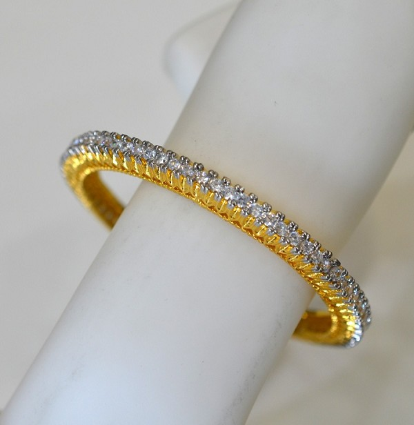 eternity ctw bracelets bangles white in diamond gold carat bangle bracelet