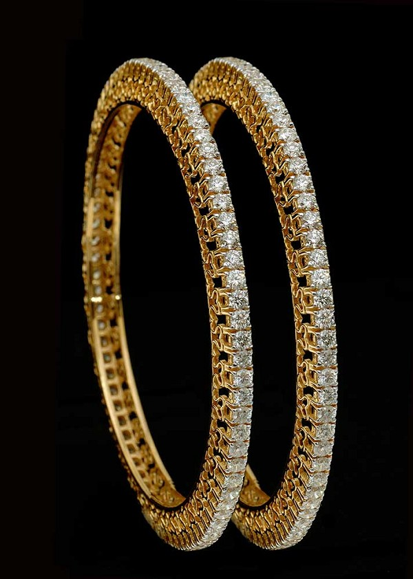 Diamond Bangle Bracelet 10.00Ct Solid Gold Natural Certified