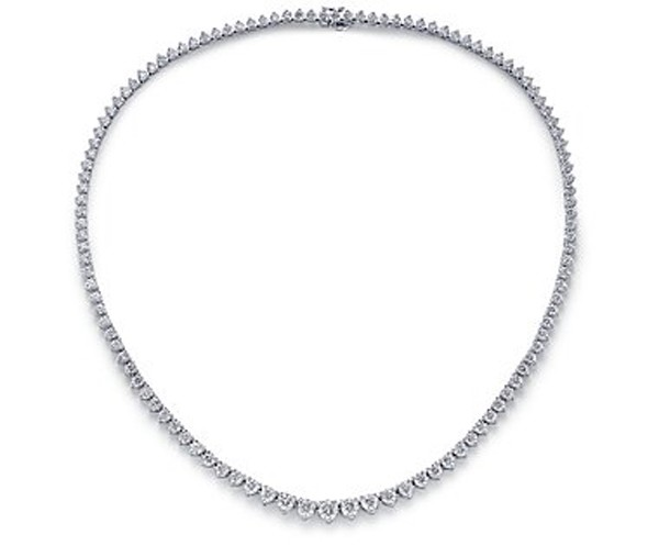 Diamond Solitaire Necklace Design 10.00Ct Solid White Gold String Natural Certified