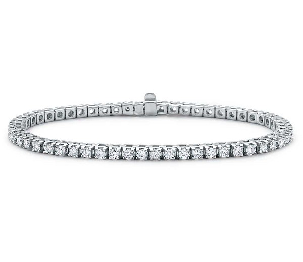 Beautiful Diamond Tennis Bracelet 8.00 Ct Solid White Gold Natural Certified