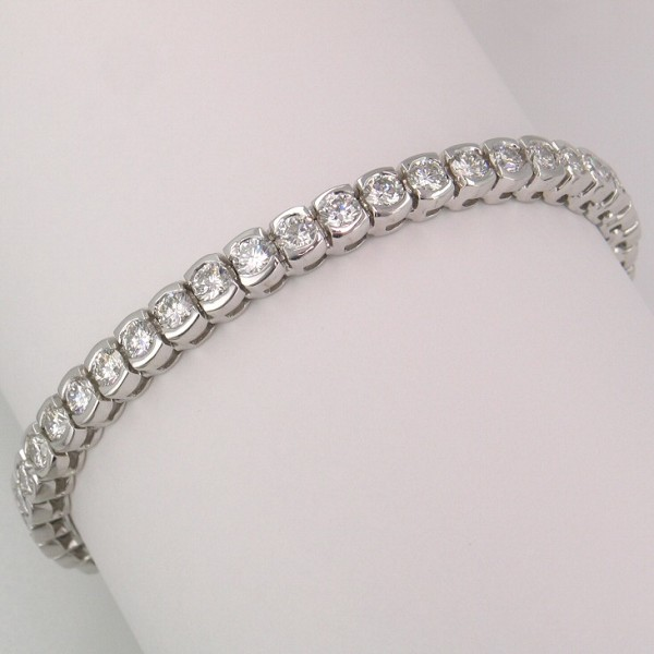 Beautiful Diamond Tennis Bracelet 6.00 Ct Solid White Gold Natural Certified