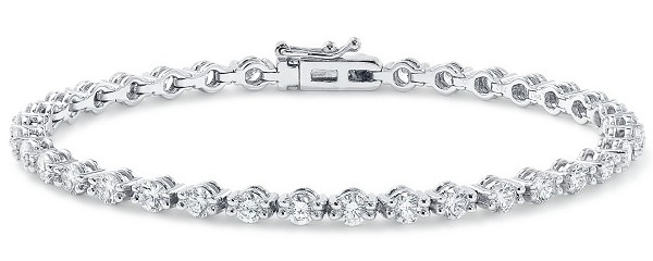 Tennis Bracelet 4.00 Ct Natural Diamond Solid White Gold Natural Certified