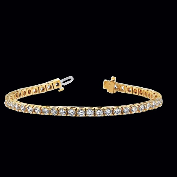 Beautiful Diamond Tennis Bracelet 2.25 Ct Solid White Gold Natural Certified