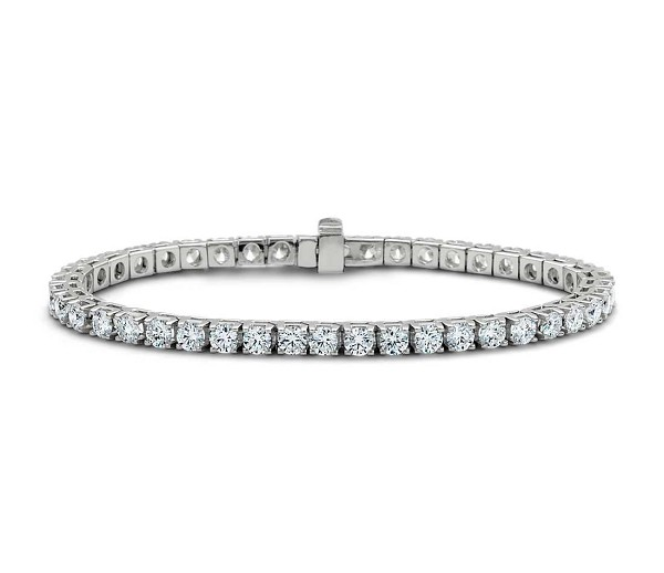 Gold Tennis Bracelets 3.80 Ct Natural Diamond Solid White Gold Natural Certified