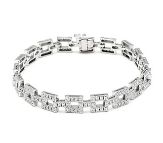 Beautiful Diamond Tennis Bracelet 5.50 Ct Solid White Gold Natural Certified