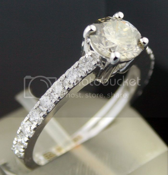 Colored Diamond Rings 1.77 Ct Center 1.51 Fancy Color White Gold Natural Certified