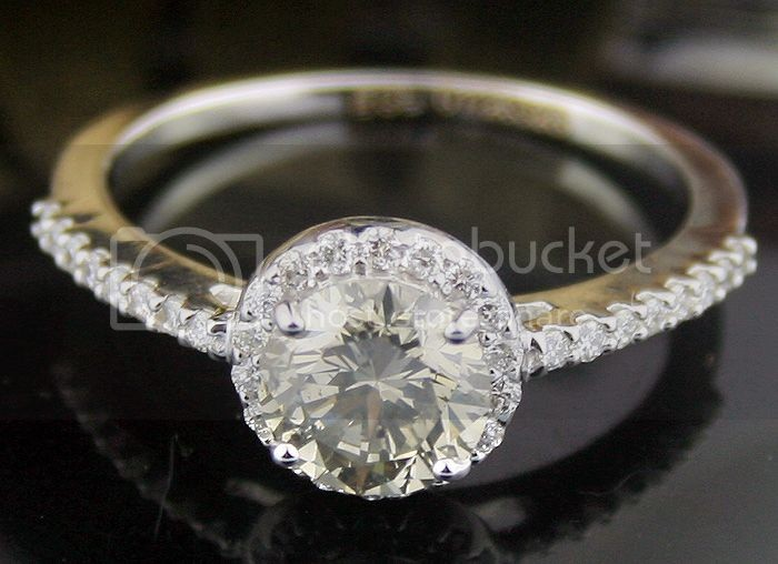 Fancy Diamond Rings 1.32 Ct Center 1.08Ct Solid Gold Ring Rare Natural Certified