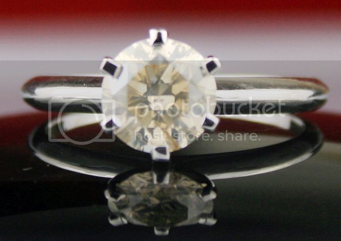 Colored Diamond Rings 1.08Ct Solid White Gold Wedding Natural Certified