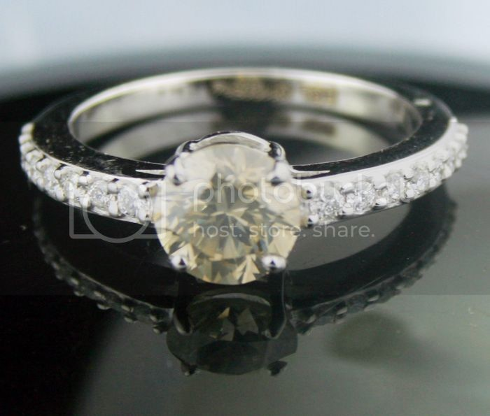 Fancy Colored Diamond Ring 1.68 Ct Center 1.43 Solid Gold Wedding Natural Certified