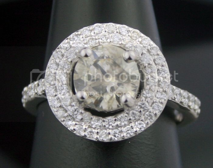 Color Diamonds 2.30Ct Center 1.66Ct Eye Clean Solid Gold Ring Natural Certified