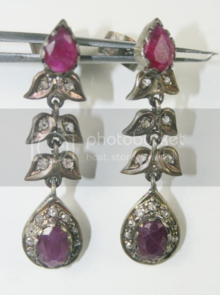 earrings product jewellup green antique color in ruby