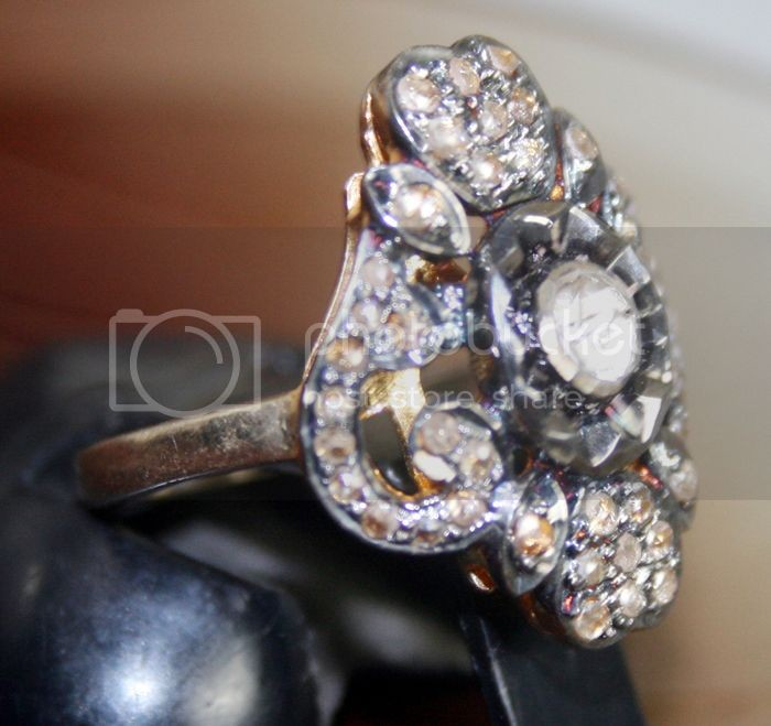 Antique Diamond Engagement Rings 0.68 Carat Natural Certified Diamond 925 Sterling Silver Size 6.75 Office Wear