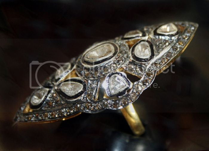 Antique Wedding Ring 2.53 Carat Uncut Natural Certified Diamond 925 Sterling Silver Engagement
