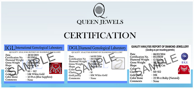 Jewels Queen Certification