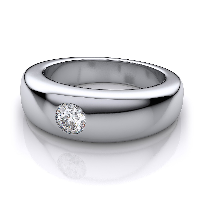 Buy 0 55 Ct Natural Diamond Gold Men s Ring QueenJewels