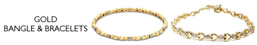 18k solid gold bangle bracelets