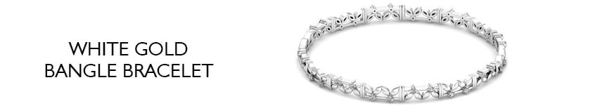 diamond bangle bracelet white gold