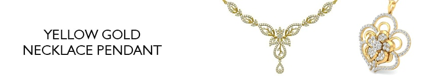 diamond pendant necklace yellow gold