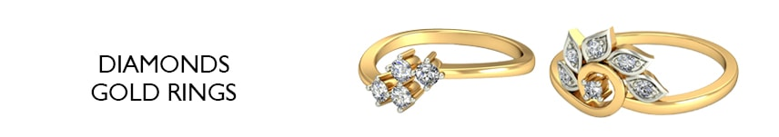 diamonds gold rings