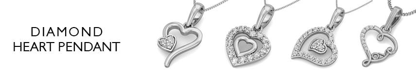 gold diamond heart pendant