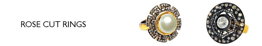 rose cut rings