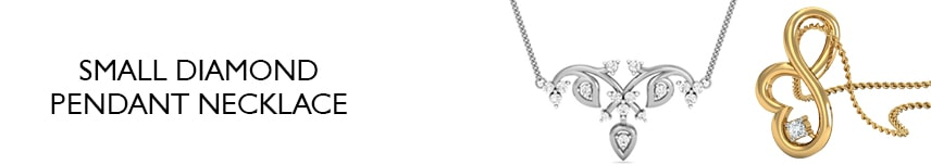 small diamond pendant necklace