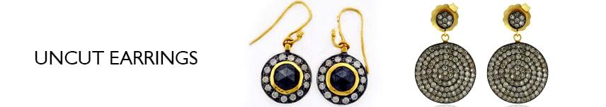 uncut earrings