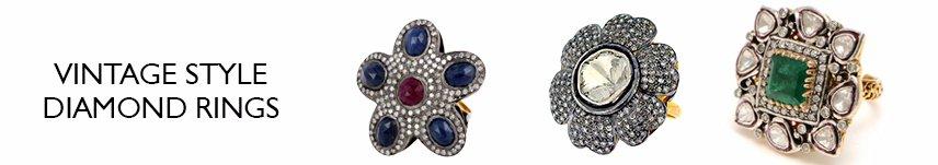 vintage style diamond rings