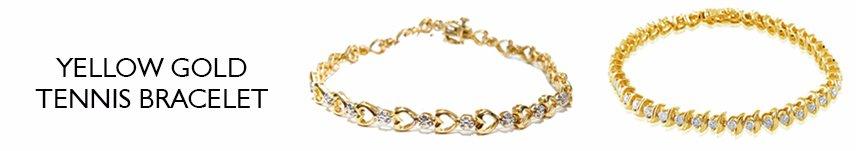 yellow gold tennis bracelet