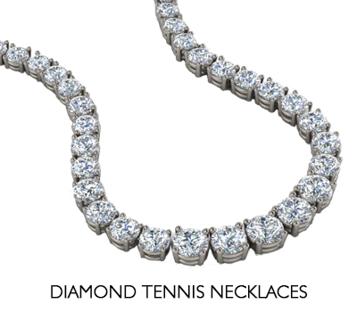 diamond tennis necklaces