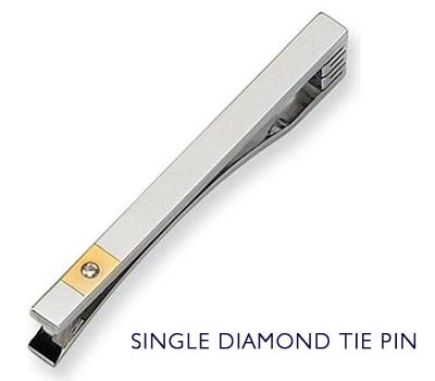 diamond tie pin