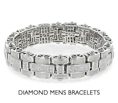 Diamond mens bracelet