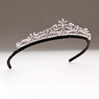 4 66ct Natural Round Diamond 14k White Gold Wedding Anniversary Tiara Crown