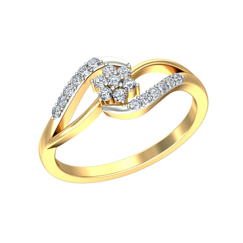Gold and Diamond Rings 0 17 ct Diamond Yellow White Gold