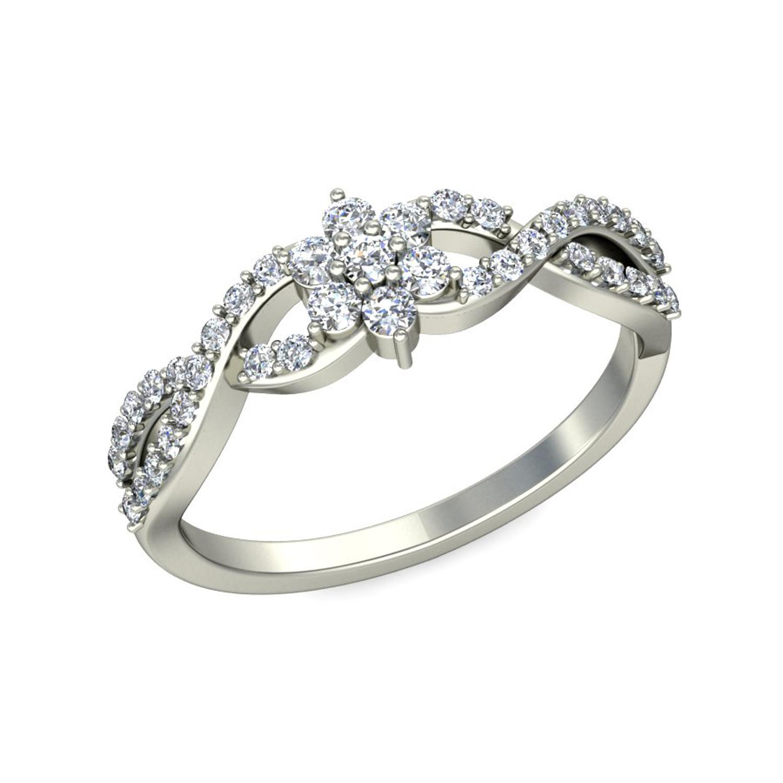 Diamond Ring Design 0 36 ct Diamond Yellow White Gold