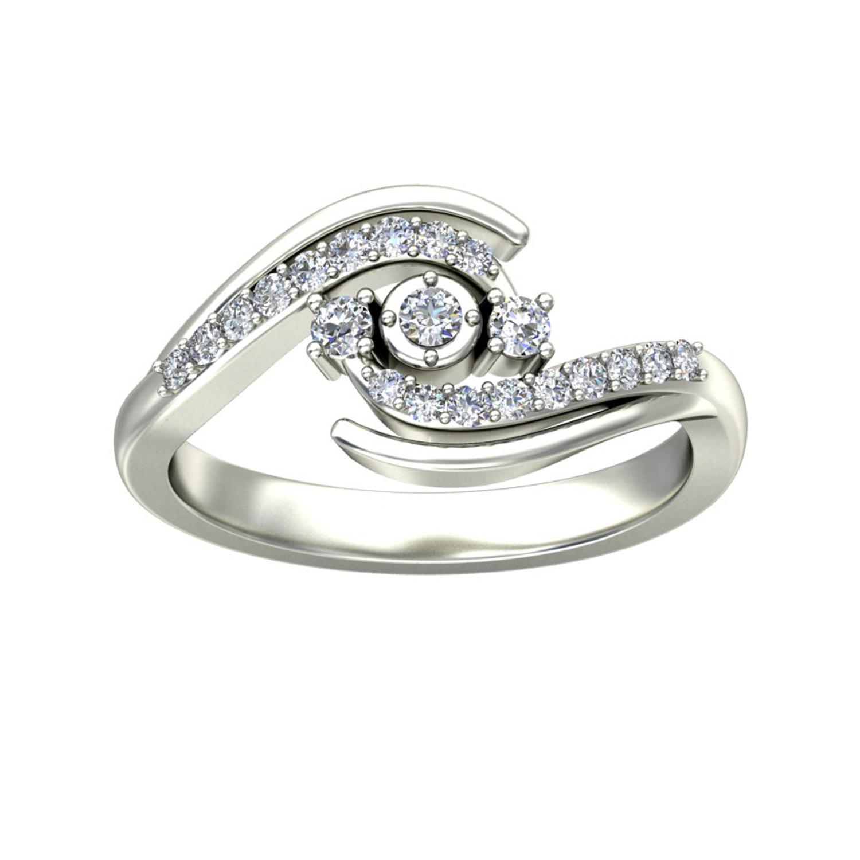 Gold and Diamond Rings 0 2 ct Diamond Yellow White Gold