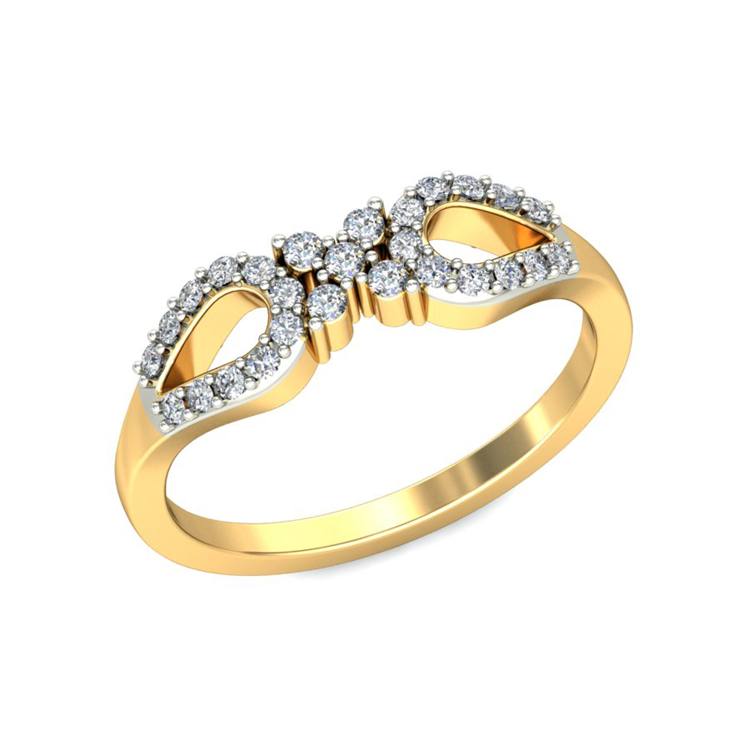 Ring For Sale 0 2 Carat Certified Diamond Yellow White Gold