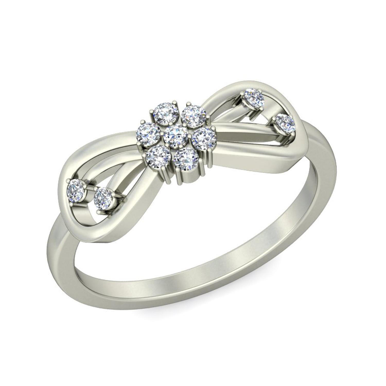 Diamond Ring For Women 0 16 ct Diamond Yellow White Gold