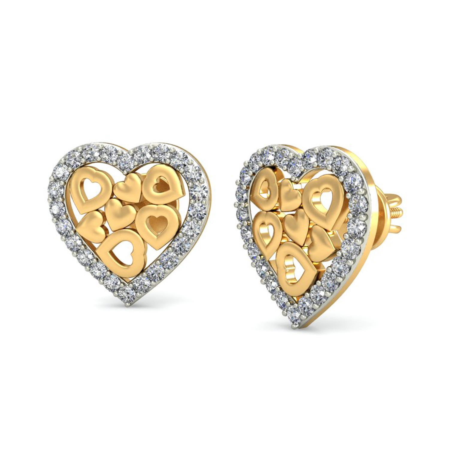 goldheart earrings gold earrings 0 29 ct gift your 8717