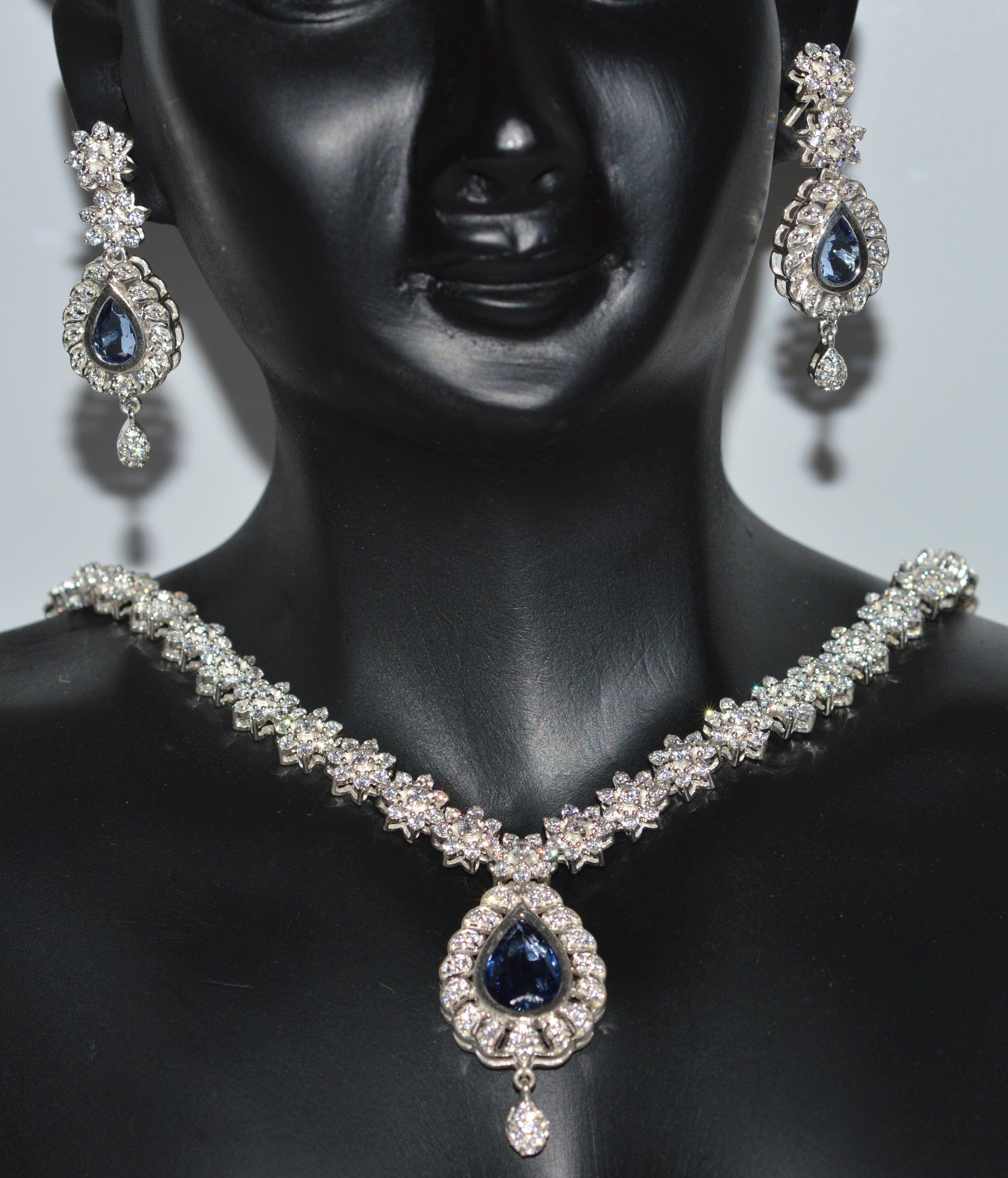 Diamond Wedding Set 12 00 Ct Diamond Kayanite White Gold Wedding