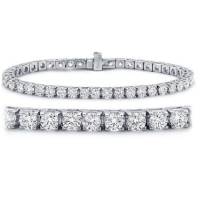Gold Tennis Bracelets 7 50 Ct Diamond Solid White Gold Certified